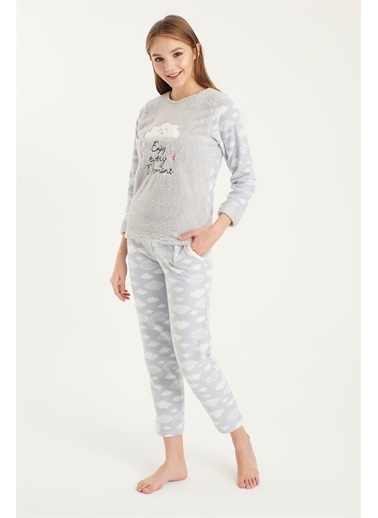 Z Giyim Yumoş Pijama Takımı [3875] Mavi